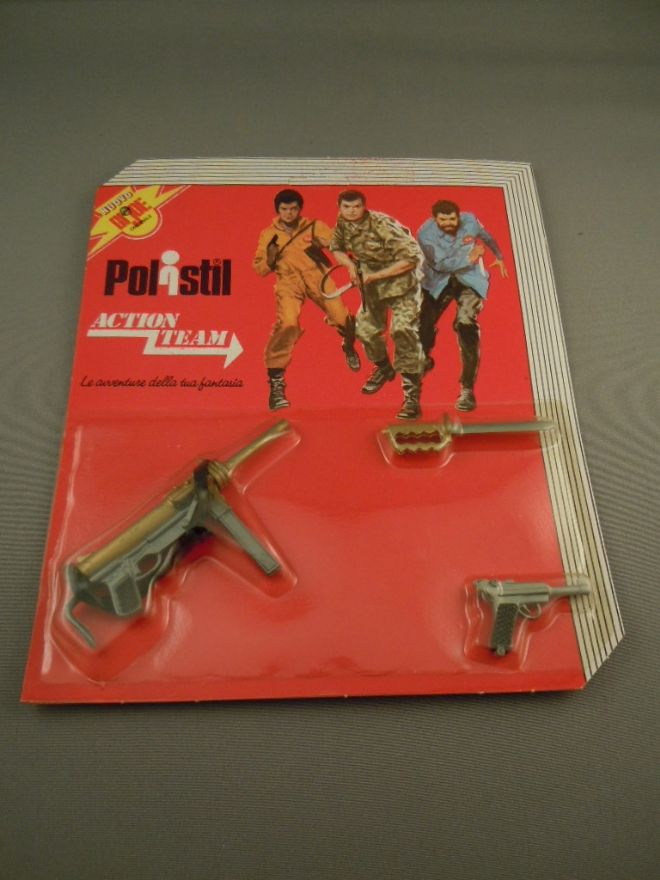 POLISTIL - VINTAGE ACTION TEAM - American Grease Gun Card AT 13
